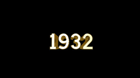 Year 1932 a HD Stock Video Footage