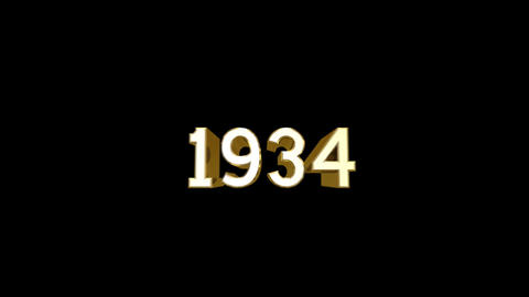 Year 1934 a HD Stock Video Footage