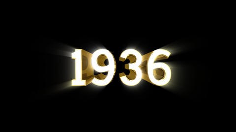 Year 1936 a HD Stock Video Footage