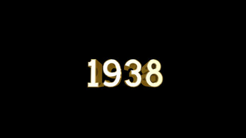 Year 1938 a HD Stock Video Footage