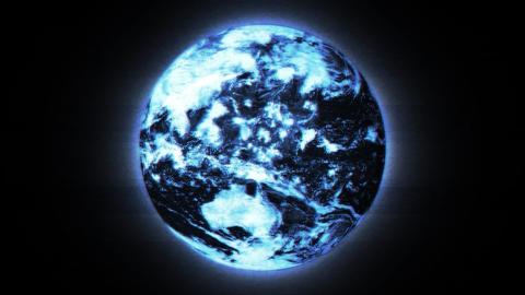 BluePlanet Earth Matrix Stock Video Footage