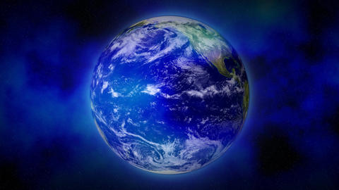 BluePlanetSpaceMist Earth 16bitColor Stock Video Footage