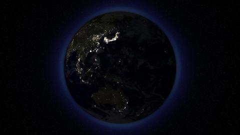 EarthByNightLoop 16bitColor Stock Video Footage