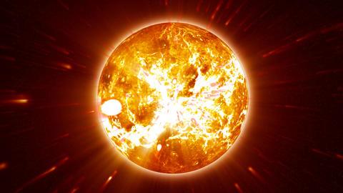 Sun Eruption Loop 16bitColor Stock Video Footage