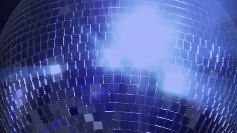 blue loop disco mirror ball series center glitter Stock Video Footage