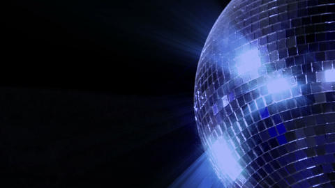 blue loop disco mirror ball series right side Stock Video Footage