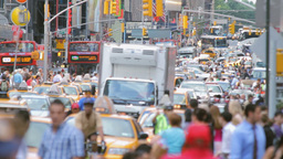 Crowded street, New York Stock Video Footage