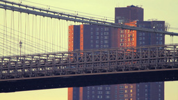 Brooklyn Bridge, detail Stock Video Footage