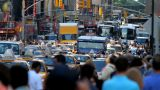 Crowded Street, New York stock footage