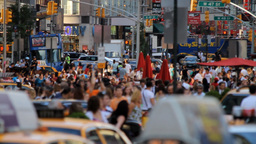 Crowd, Time Square Stock Video Footage