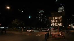 Lane Shift Ahead Stock Video Footage