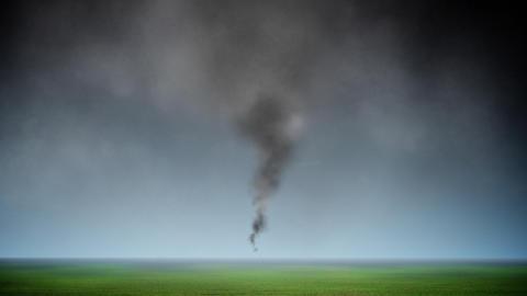 Tornado loop Stock Video Footage