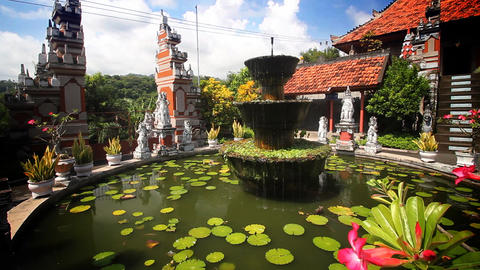 Bali Temple loop Stock Video Footage