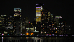 Corporate Buildings, Night View Stock Video Footage