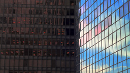 Corporate Buildings Close-up Stock Video Footage
