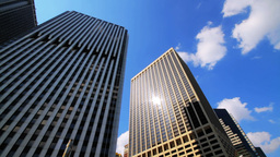 Corporate Buildings New York City Stock Video Footage