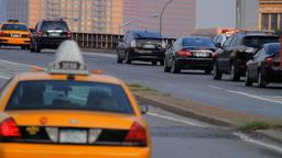 Street Traffic On Brooklyn Bridge, New York City Stock Video Footage