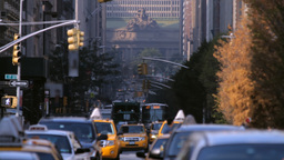 New York City street traffic Stock Video Footage