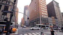 Crossroad, New York City street traffic Stock Video Footage