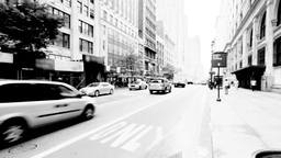 New York Street, Black and White Stock Video Footage