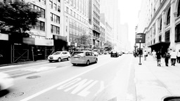New York Street, Black and White Footage