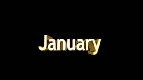 Months 01 January a Stock Video Footage