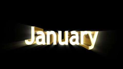 Months 01 January a Animation