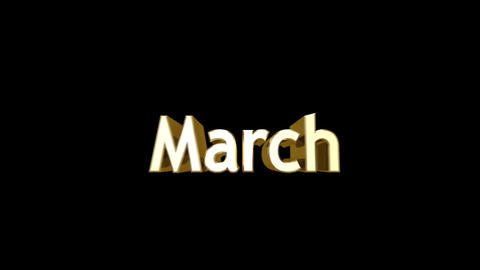 Months 03 March a Stock Video Footage