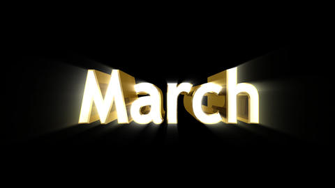 Months 03 March a Animation