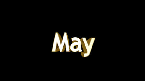 Months 05 May a Stock Video Footage