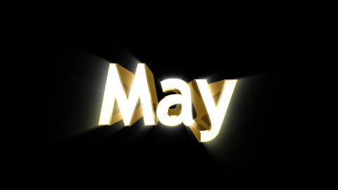 Months 05 May a Animation