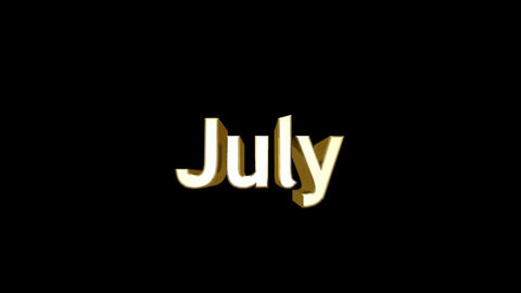 Months 07 July a Stock Video Footage