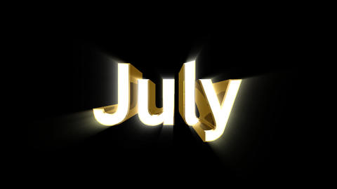 Months 07 July a Animation
