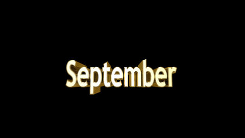 Months 09 September a Stock Video Footage