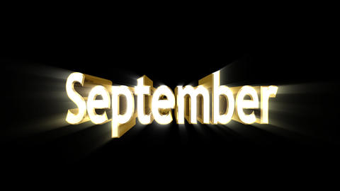 Months 09 September a Animation