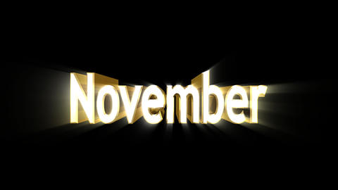 Months 11 November a Stock Video Footage
