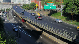 Brooklyn Queens Expressway, New York City street t Stock Video Footage