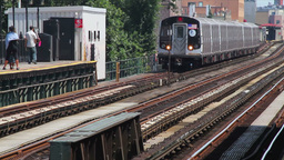 Metro Arriving, New York City Station Stock Video Footage