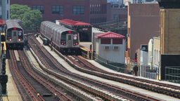 Metro station in New York City Stock Video Footage