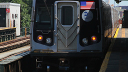 Metro Departing, New York City Station Stock Video Footage