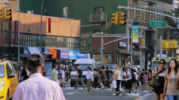 Street Traffic, New York City Stock Video Footage