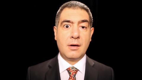 Surprised businessman showing emotion Stock Video Footage
