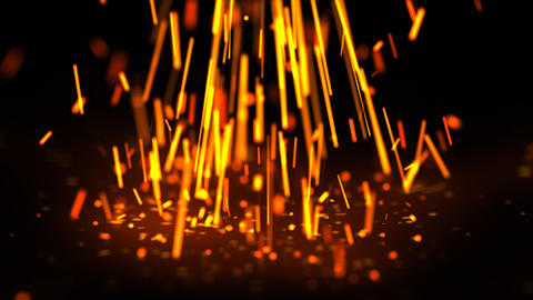 Falling glowing sparks Stock Video Footage