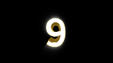 Number 09 E HD Animation