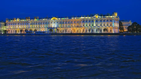 Hermitage Museum (time-lapse) Stock Video Footage