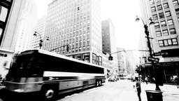 Crossroad, Black and White, NYC Stock Video Footage