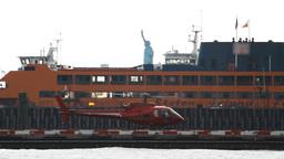 Downtown Manhattan Heliport Stock Video Footage