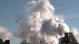 HD2008-winter-1 smoke stacks cold Stock Video Footage