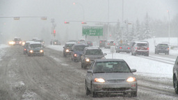 HD2008-12-7-6 snow traffic Stock Video Footage