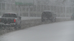 HD2008-12-7-8 snow traffic Stock Video Footage